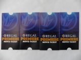4 Regal movie tickets - never expire