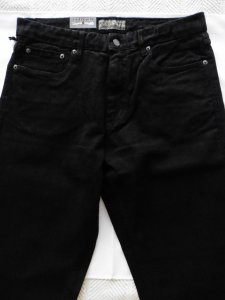 Urban Star men's jeans - relaxed fit - straight - 34 x 30 - black