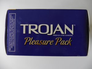 Trojan Pleasure Pack - Premium Lubricated Latex Condoms - 40 Count